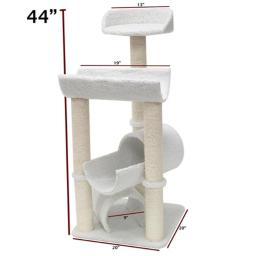 Majestic Pet Products 788995780434 44 in. Bungalow Cat Tree - Sherpa