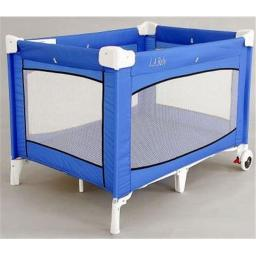 L A BABY 87-LF L. A.baby large commercial grade playyard with wheels- Blue