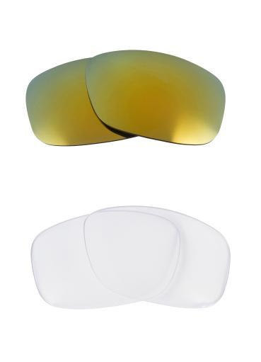 Best SEEK Replacement Lenses for Oakley SQUARE WIRE (2006) Clear Green Mirror