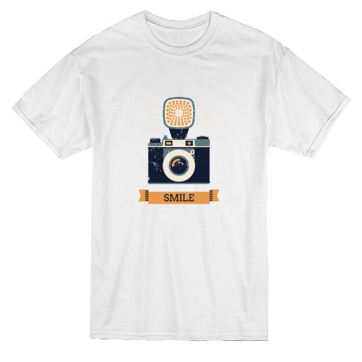 Retro Style Camera Smile Graphic Tee - Image by Shutterstock EI2UVU0GP298GLQM