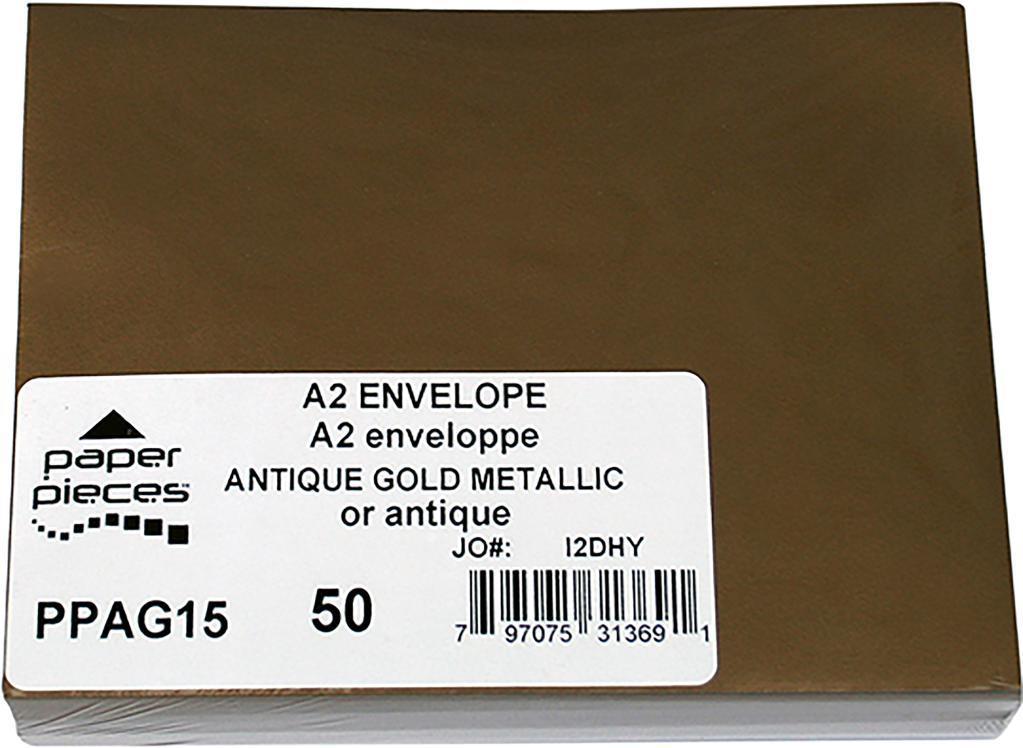A2 Metallic Envelopes 50/Pkg-Antique Gold