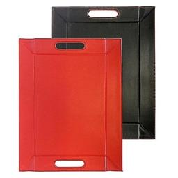 Freeform FFM0201 Convertible Tray & Placemat Reversible, Red & Black- Medium - 18 x14 in.