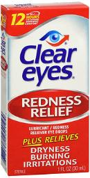 Clear Eyes Redness Relief Eye Drops - 1 Fl Oz, Pack Of 4