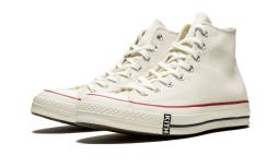 CONVERSE X KITH Unisex Chuck 70 Hi Sneakers, Natural, M 8 / W 10