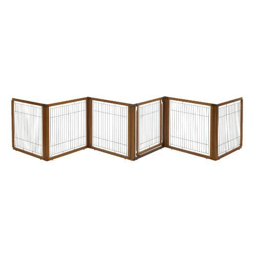 Richell 94901 Autumn Matte Richell Convertible Elite Pet Gate 6 Panel H6 Autumn Matte 130 - 134 X 31.7 - 33.7 X 35
