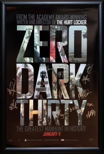 Zero Dark Thirty - Signed Movie Poster in Wood Frame with COA