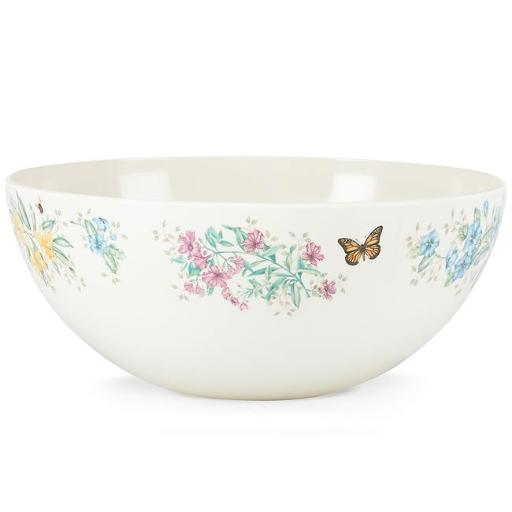 Lenox 855599 Butterfly Meadow Melamine Dinnerware Solid Bowl, Medium - 4 mm