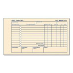 Rediform Office Products RED4K406 Time Card Pads- For Daily Time-2 Page- 4-.25in.x7in.- Manila
