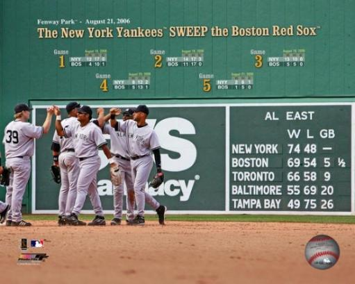 The New York Yankees Sweep the Boston Red Sox at Fenway Park, 2006 Photo Print