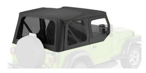 Bestop 51129-35 Black Diamond Replace-a-Top Soft Top Tinted Windows-With Upper Door Skins-No frame hardware included- 2003-2006 Jeep Wrangler.
