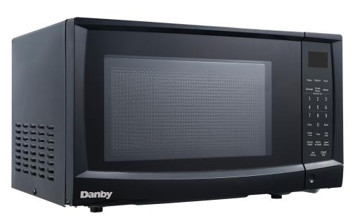 Danby 0.9 cu. ft. Microwave 0.9 cu ft. capacity900 WattsDurable and stylish exteriorWhite interior10 power levels6 simple one touch cooking for popcorn, potato, pizza, beverage, dinner plate, frozen vegetableWeight/time defrost, speed defrost