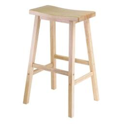 Winsome 84089 - 29 Inch Saddle Seat Stool - Single - Beech Solid - Composite Wood