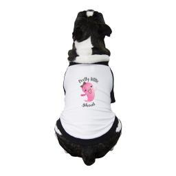 Pretty Little Ghoul Dog Baseball Shirt Cotton Small Pet Clothes
