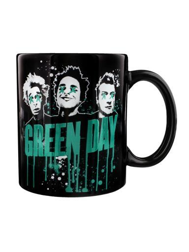 Green Day Drips Coffee Mug 12 oz. Ceramic Punk Rock Alternative Music Tea