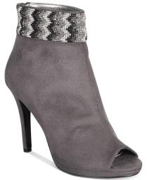 Caparros Womens Julia Suede Open Toe Ankle Fashion Boots