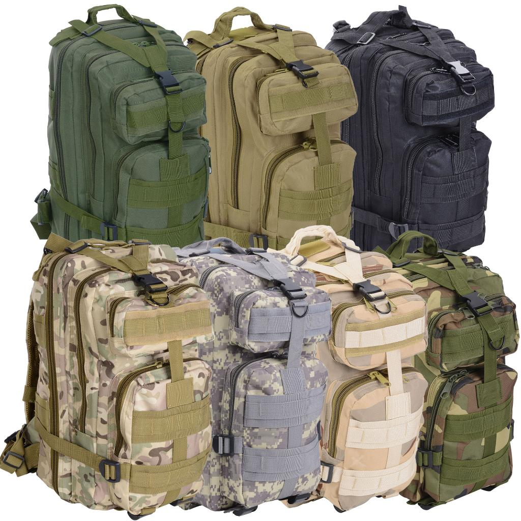 "30L Mud Color 17""x10""x12"" Sport Hiking Bag Oxford Nylon Backpack Travel Climb Military Tactical"
