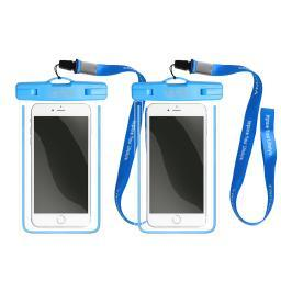 """Tritina Waterproof Phone Pouch Universal fit Size Up to 6"""", For Any Traveler or Outdoor Adventurer Pack of 2"""