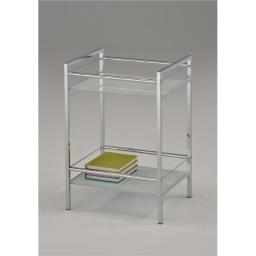 Inroom Furniture Designs BS-2034 Utility Rack - Chrome, 19 x 13 x 11 in.