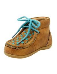 Blazin Roxx Western Shoes Girls Cassidy Lace Up Checkerboard 4441102