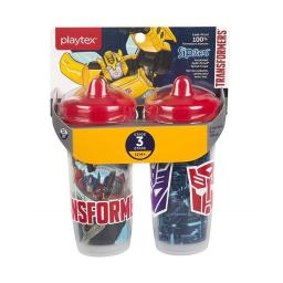 Edgewell Personal Care 55292515 Playtex Stage 3 Transformers Spout Sippy Cups, Pack of 2