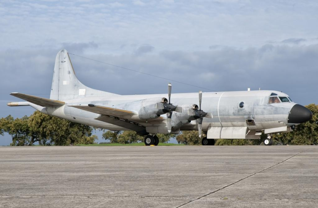 A Portuguese Air Force P-3P Orion at Beja Air Base, Portugal Poster Print