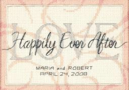 """Happily Ever After Wedding Record Mini Counted Cross Stitch-7""""X5"""" 14 Count 65045"""