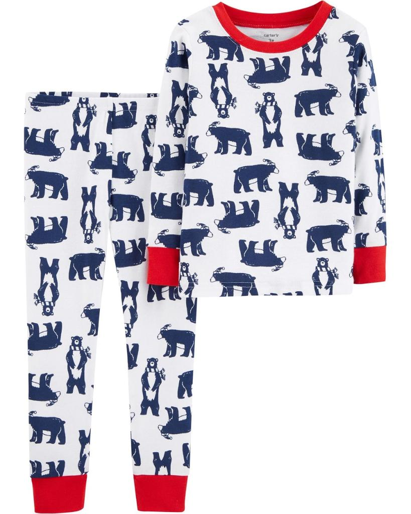 Carters Baby Boys 2-Piece Snug Fit Cotton PJs