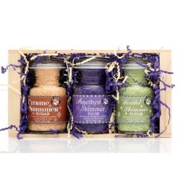 Pepper Creek Farms CRT-007 Vivid Shimmer Sugars Gift Crate - Pack of 6