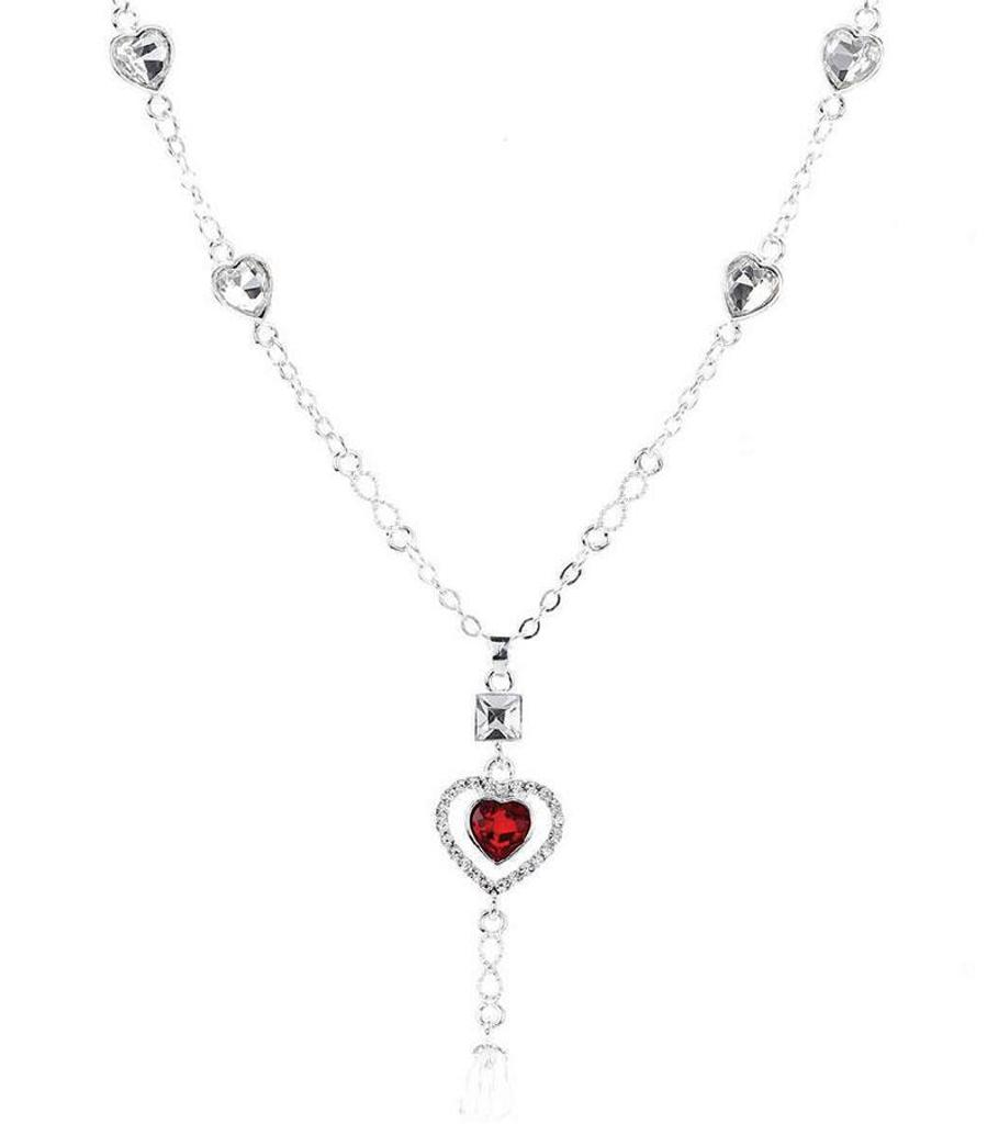 Novadab Red Double Heart Necklace