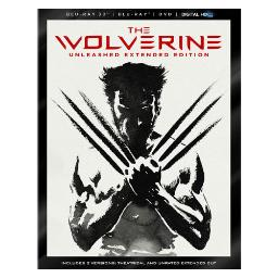 Wolverine (2013/blu-ray/3d/dvd/dc/4 disc/ws) (3-d) unleashed ext ed BR2287666