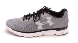 Under Armour Womens Micro G Speed Swift Low Top Lace Up, STL/WHT/BLK, Size 14
