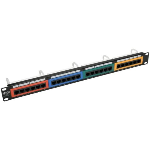 Tripp lite n053-024-rbgy 24port cat5 5e patch panel cld