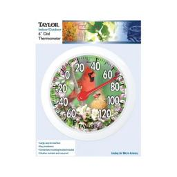 Taylor 5632 Bunting Dial Outdoor Wall Thermometer  6 in.