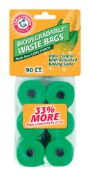 Arm & Hammer Plastic Biodegradable Waste Bags 90 pk - Case Of: 1; Each Pack Qty: 90; Total Items Qty: 90