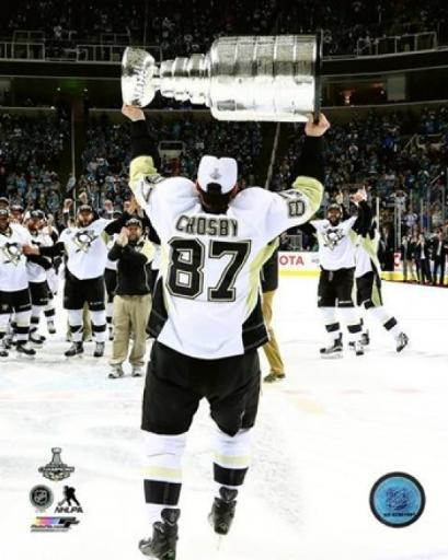 Sidney Crosby with the Stanley Cup Game 6 of the 2016 Stanley Cup Finals Sports Photo KFZTGMHXN4PW5B03