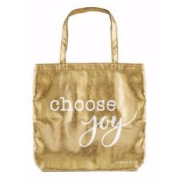 Cb Gift 181460 16 X 14.5 In. Choose Joy-gold Gilded Goodness Tote Bag
