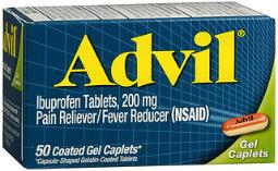 Advil Pain Reliever/fever Reducer Coated Gel Caplets - 50 Ct, Pack Of 4