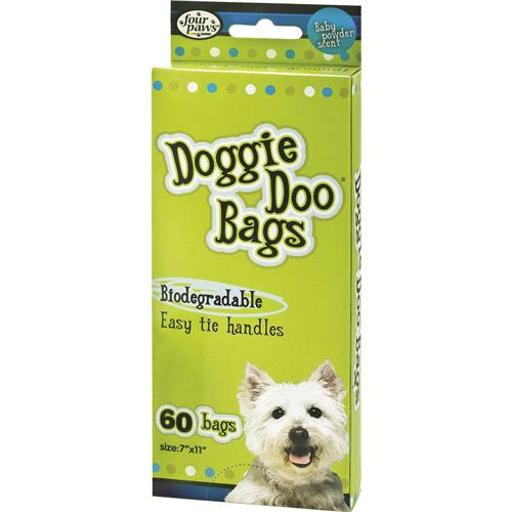 FOUR PAWS PRODUCTS LTD WEE WEE DISPOSABLE DOGGIE DOO BAGS 60 CT LIME