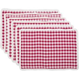 Seasons Crest 42511 12 x 18 in. Emmie Red Placemat, Set of 6