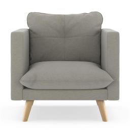 NyeKoncept 50180515 Pebble Weave Jace Armchair, Cinder Gray & Natural
