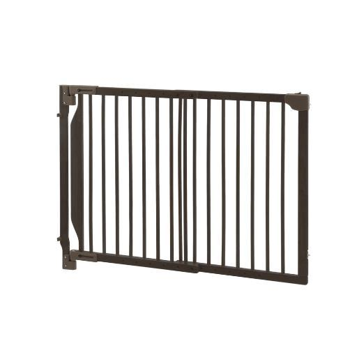 Richell 94182 Bamboo Richell Expandable Walk-Thru Pet Gate Bamboo 31.5 - 47.2 X 2 X 32.3