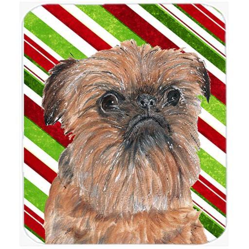 Brussels Griffon Candy Cane Christmas Mouse Pad, Hot Pad Or Trivet