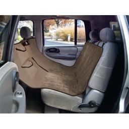 Yes Pets 59-90296TAN Quilt Suede, Waterproof, Tear Proof Hammock Style Car Seat Cover - 100 Percent Polyester, Tan