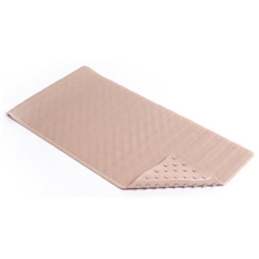 Kittrich BMAT-C4V08-04 18 x 36 in. Taupe Wave Rubber Bath Mat
