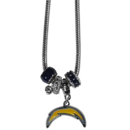 Siskiyou Sports FBNK040 NFL San Diego Chargers Euro Bead Necklace JUCKFTY0ISFV7GSO