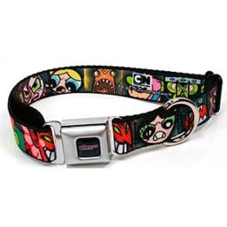 Buckle Down Power Puff Girls Pet Seatbelt Buckle Dog Collar