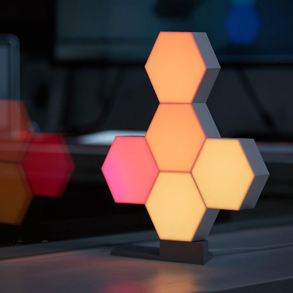 LifeSmart WiFi Smart LED Light Kit Splicing 5 Blocks & Base 16 Million Color Cololight Work with Alexa Google Assistant