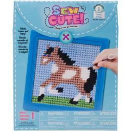"Sew Cute! Horse Needlepoint Kit-6""X6"" Stitched In Yarn Q2342A"