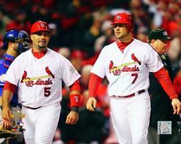Albert Pujols & Matt Holliday Game 1 of the 2011 World Series Action #4 Photo Print PFSAAOE02801