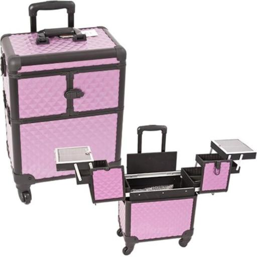 Sunrise E6304DMPLB Purple, Black Diamond Rolling Beauty Case 8QUJGMXVILCRJ7PL